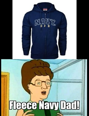 FLEECE NAVY DAD