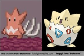 "This creature from ""Starbound"" Totally Looks Like Togepi from ""Pokemon"""
