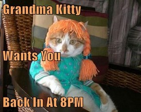 Grandma Kitty Wants You Back In At 8PM