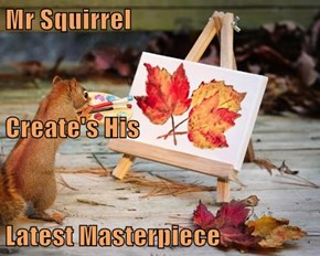 Mr Squirrel Create's His Latest Masterpiece