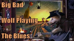 Big Bad Wolf Playing The Blues