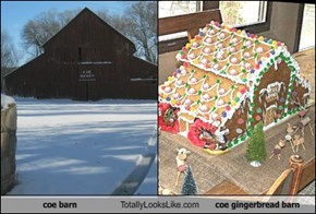 coe barn Totally Looks Like coe gingerbread barn