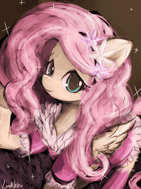 Fluttershy in bathrobe