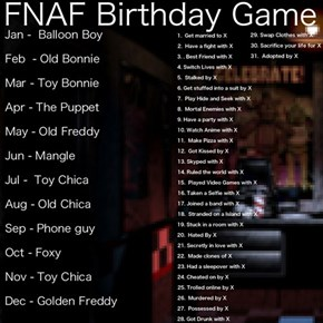 FNaF Birthday game