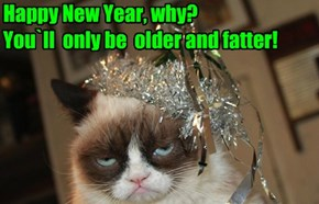 Happy New Year, why? You`ll  only be  older and fatter!