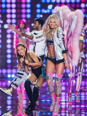 Photo of the Day: Ariana Grande Dodges Winged Victoria's Secret Model