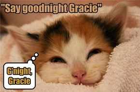 """Say goodnight Gracie"""