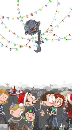 Get Strings of Lights on Ultron in This Year's Christmas Cards