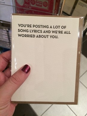 Greeting Card for Modern Issues