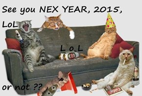 See you NEX YEAR, 2015, LoL L o L or not ??