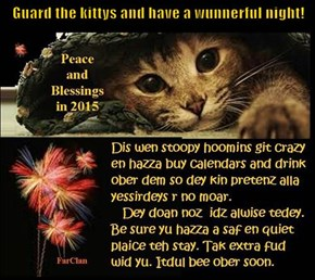 Guard the kittys and have a wunnerful night!