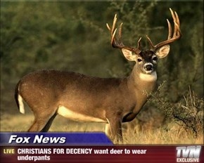 Fox News - CHRISTIANS FOR DECENCY want deer to wear underpants