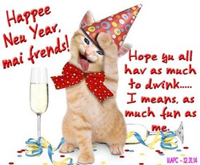 Happee Neu Year to all mai great frends!