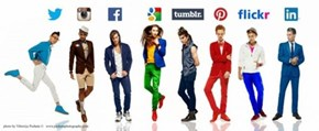 All the Most Popular Social Networks as Fashion-Conscious Models
