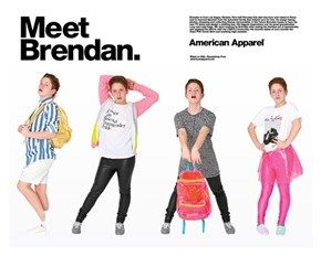 Model of the Day: 'Diva Kid' Brendan Jordan Poses for American Apparel