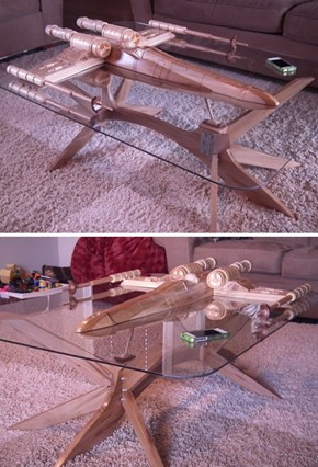 Handmade X-Wing Coffee Table