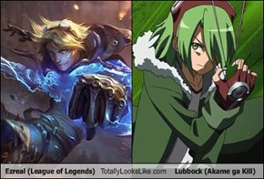 Ezreal (League of Legends) Totally Looks Like Lubbock (Akame ga Kill)
