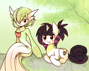 Gardevoir and random pony OC