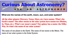 Astronomers Get Asked Some Tough Questions