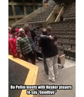 "Bo Pelini meets with Husker players  to say ""Goodbye"""