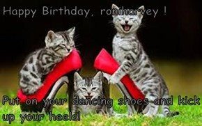 Happy Birthday, roniharvey !  Put on your dancing shoes and kick up your heels!