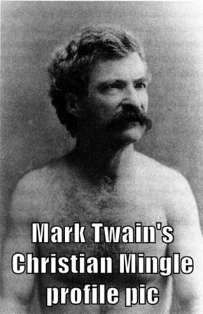 Mark Twain's Christian Mingle profile pic