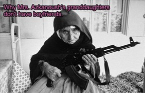 Why Mrs. Azkanoush's granddaughters  don't have boyfriends.
