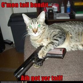 C'mon tail bandit...  Aih got yer tail!