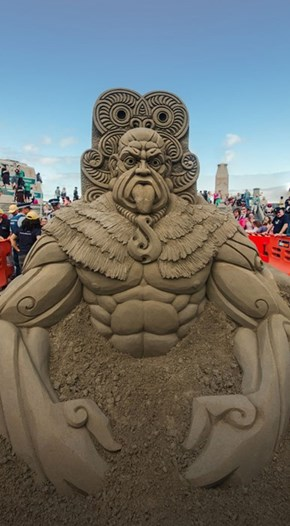 There Are Sweet Sand Sculptures in New Zealand Right Now