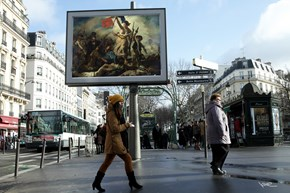 Out With the Advertisements, in With Classical Art