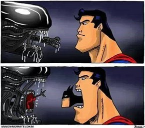 Alien vs Superman