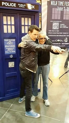 Matt Smith and Stan Lee in New Orleans