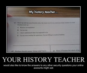 YOUR HISTORY TEACHER