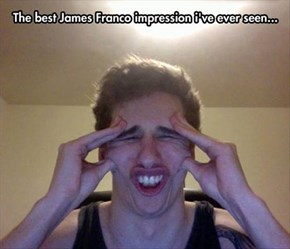 James Franco With a Bad Headache