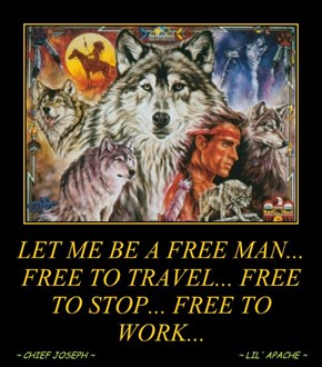 LET ME BE A FREE MAN... FREE TO TRAVEL... FREE TO STOP... FREE TO WORK...