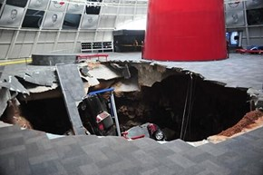 Sinkhole Swallows Eight Vintage Corvettes