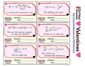 Valentine's Cards From a Mad Scientist