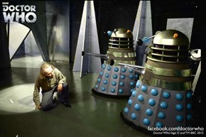Colorized Number One and Daleks
