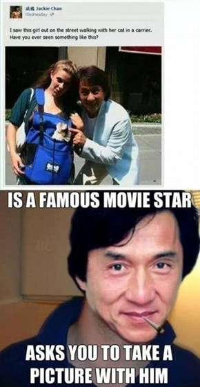 "Jackie Chan is Working on the ""George Takei Facebook Nice Guy"" Award"