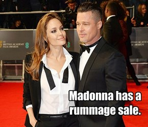 Madonna has a rummage sale.