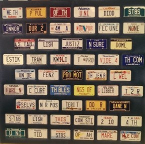 50 States, 50 Plates (With a Special Message)