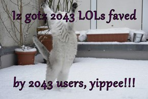 Iz gotz 2043 LOLs faved  by 2043 users, yippee!!!