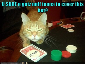 U SURE u gotz nuff toona to cover this bet?