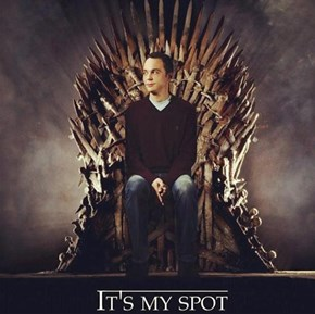 Because it's Sheldon's Spot...