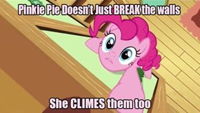Pinkie Pie is Wall Ninja