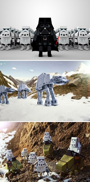 These Star Wars Paper Toys Are Perfect For Your Space Chess Set