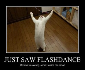 JUST SAW FLASHDANCE