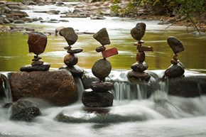 Michael Grab Doesn't Use Glue, These Are Just Pefectly-Stacked Rocks