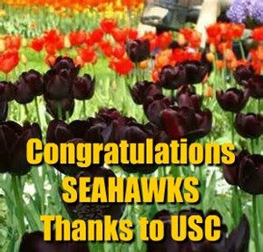 Congratulations SEAHAWKS Thanks to USC