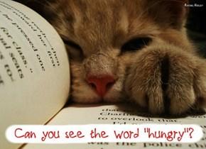 Mum, I'm hungry!